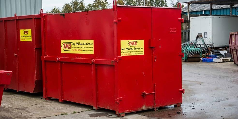 Grote afvalcontainers kun je huren in groningen via topcontainers